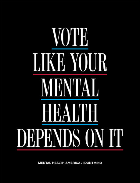 Vote Like Your Mental Health Depends On It Sticker