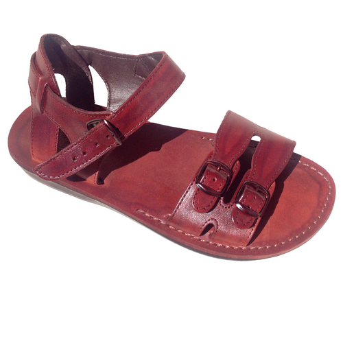 Soul Sandals Leather Sandals - Coolangatta in dark tan