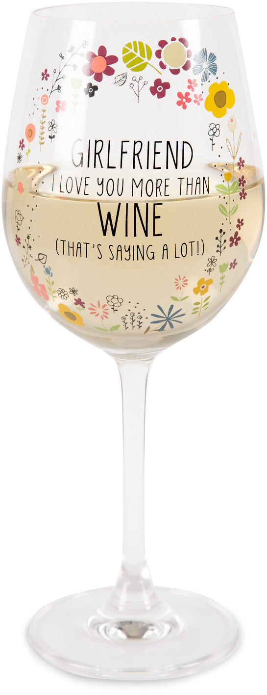 Girlfriend 12 oz Crystal Wine Glass
