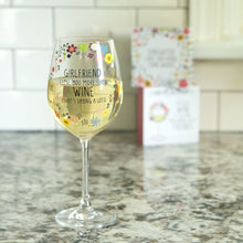 Load image into Gallery viewer, Girlfriend 12 oz Crystal Wine Glass
