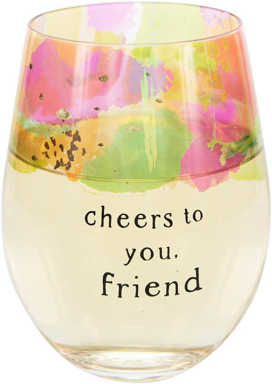 Friend 18 oz Stemless Wine Glass