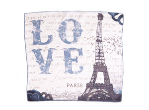 LOVE Square Neckerchief Scarf