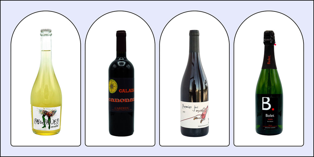Product images of the four wine's included in December's box.