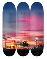 Skateboard Wall Art (Sunset)