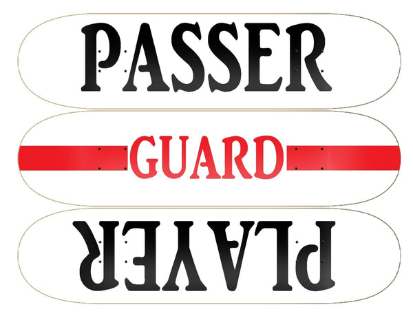 Skateboard Wall Art (Guard Player/Passer)