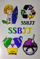 SSBJJ Stickers 11 for $30 / 33 for $50