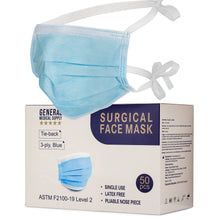 Load image into Gallery viewer, Surgical Face Masks, Level 2 - 50pc (Tie-Back)