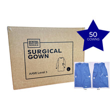 Load image into Gallery viewer, AAMI Surgical Gown Level 3 Carton (50 Gowns)