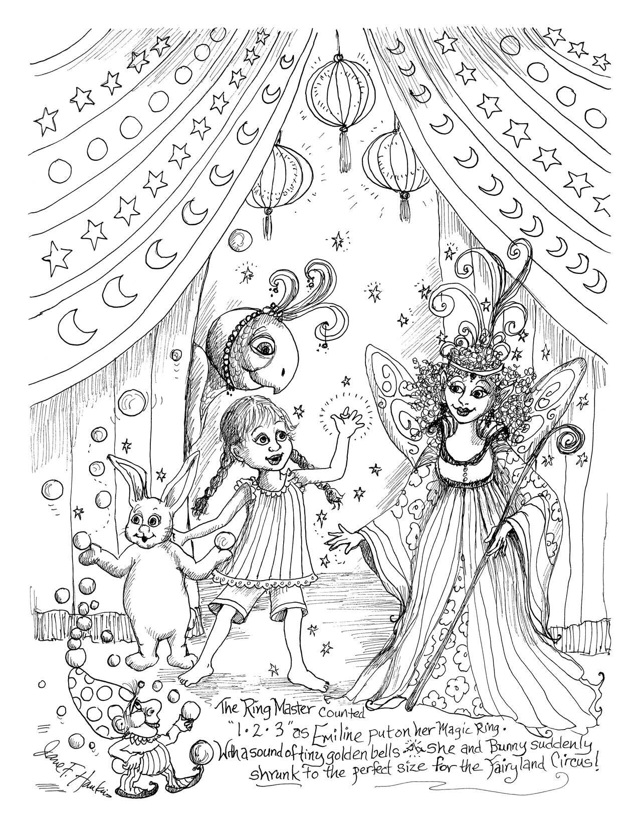 The Fairyland Circus from The Imaginary World of Jane F Hankins (Digital PDF)