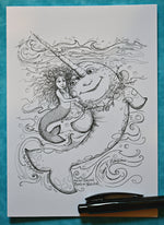 Load image into Gallery viewer, Mesmerizing Mermaid Greeting Cards
