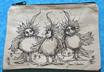 Load image into Gallery viewer, Three Fluffy Chicks Pencil Pouch