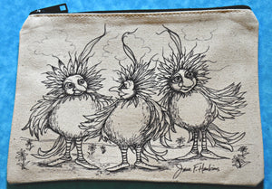 Three Fluffy Chicks Pencil Pouch