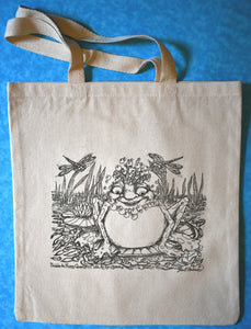 Bubbles Frog Tote Bag