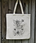 Load image into Gallery viewer, Fairy Dancing on the Flowers Tote Bag