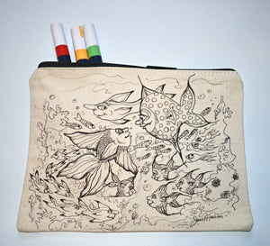 Hello Fish Pencil Pouch