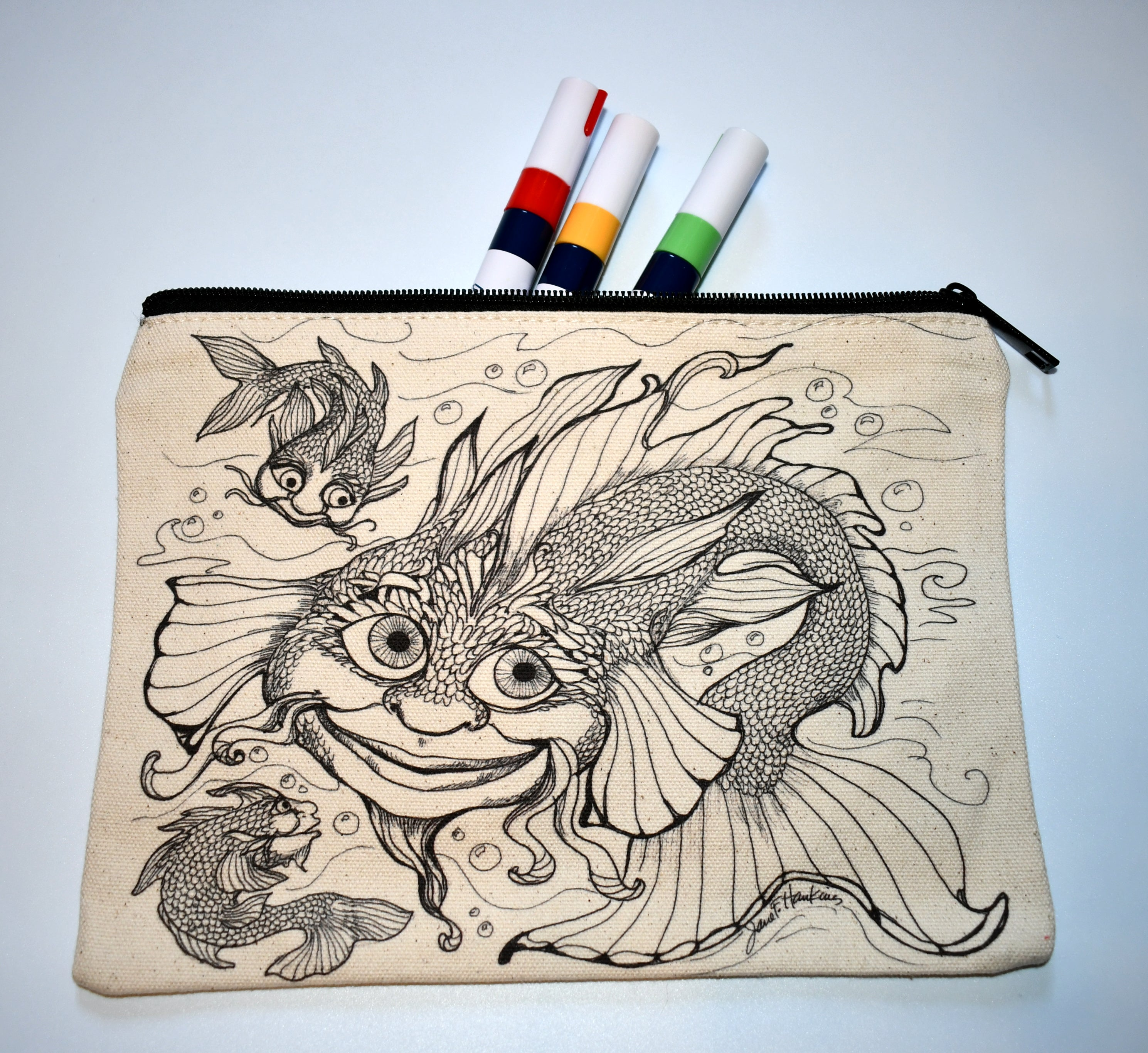 Dragonfish Pencil Pouch