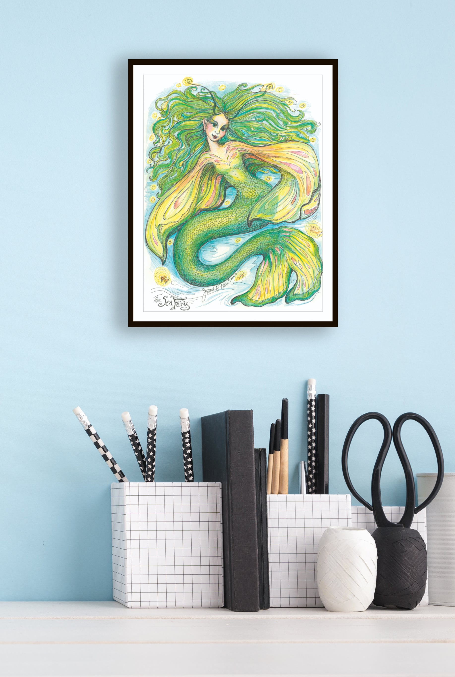 Print of The Sea Fairy by Jane F. Hankins