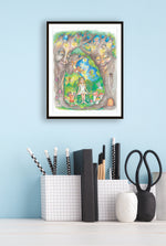 Load image into Gallery viewer, Print of Her Imaginary Forest By Jane F. Hankins