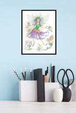 Load image into Gallery viewer, Print of Pixie's Fairy by Jane F. Hankins