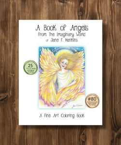 A Book of Angels 9x12 - from The Imaginary World of Jane F. Hankins