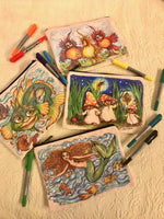 Load image into Gallery viewer, Mushroom Gnomes Pencil Pouch