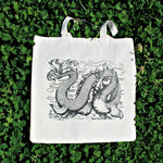 Load image into Gallery viewer, Shy Sea Serpent Tote Bag