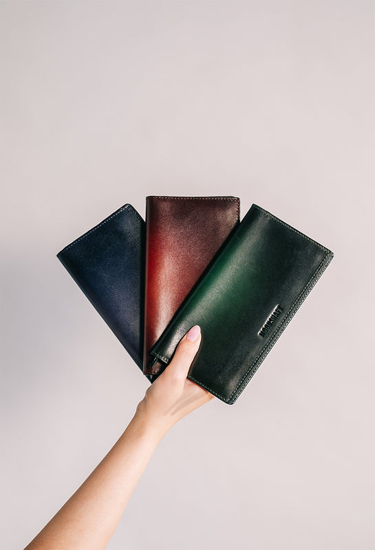 3 Colourway Moonshaft Minimal Long Wallet