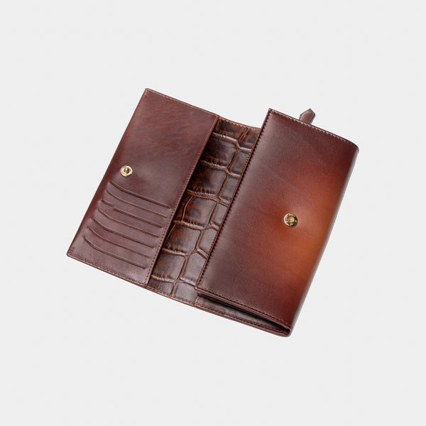 Continental Wallet - Croco Interior - Moonshaft