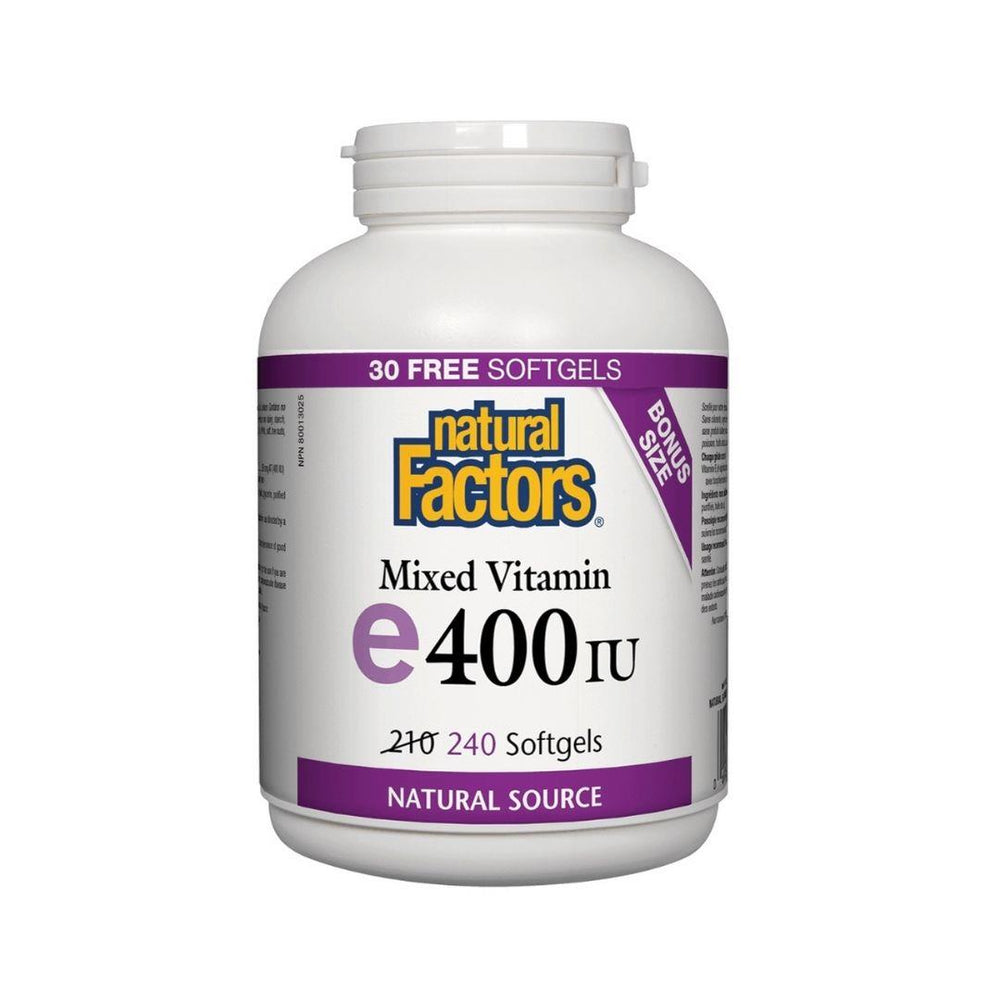 Natural Factors Vitamin E Mixed Tocopherol 400IU Gelcaps