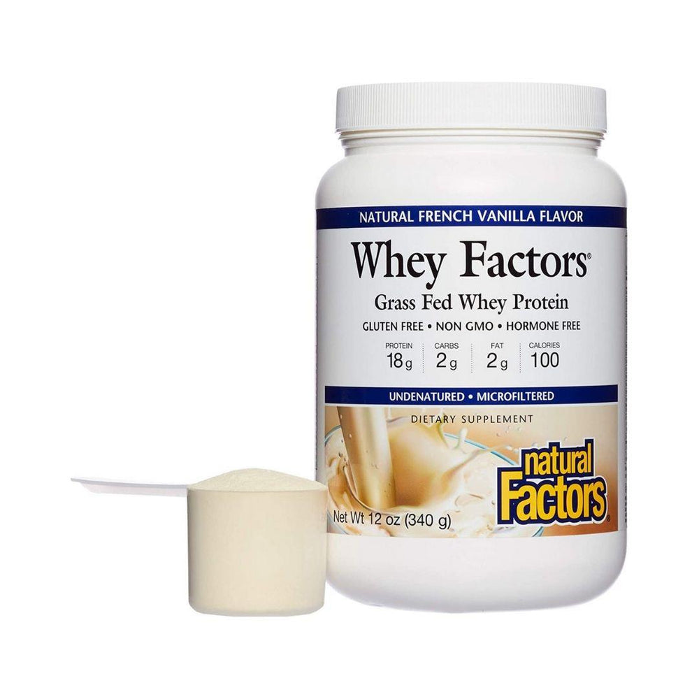 Natural Factors Whey Protein Various Flavours & Sizes