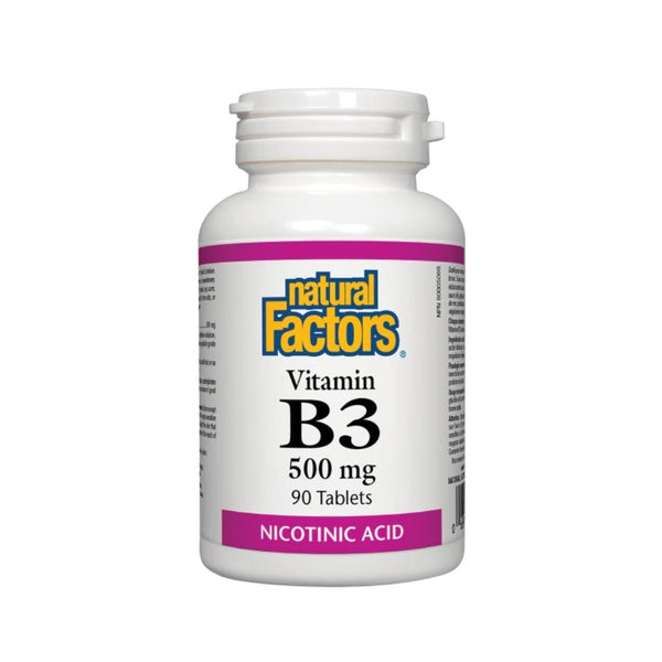 Natural Factors Vitamin B3 (Niacin) 90 Tablets