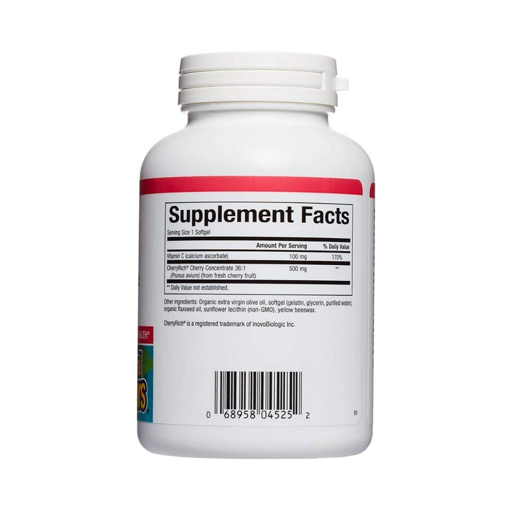 Natural Factors Cherry-Rich 500mg 90 Gelcaps