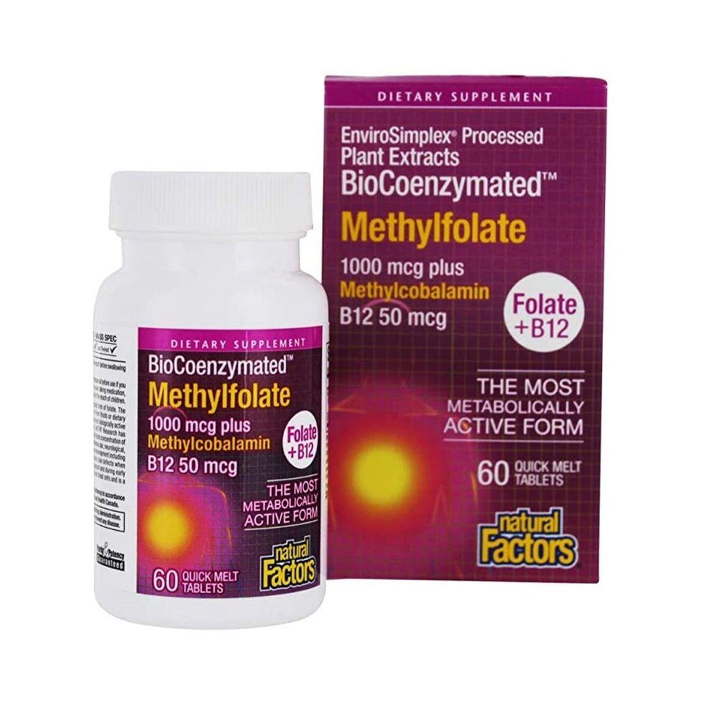 Natural Factors Methylfolate 1000mcg 60 Sublingual Tablets