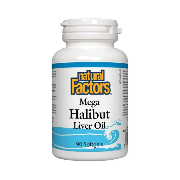 Natural Factors Halibut Liver Oil 90 Softgels | Durham Natural