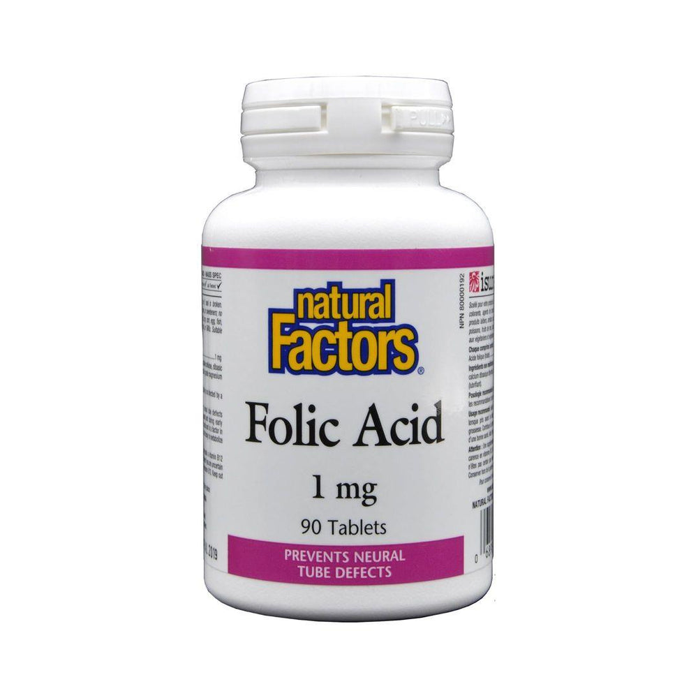 Natural Factors Folic Acid 1mg 90 Capsules