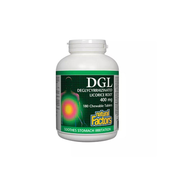 Natural Factors DGL 400mg Chewable Tablets