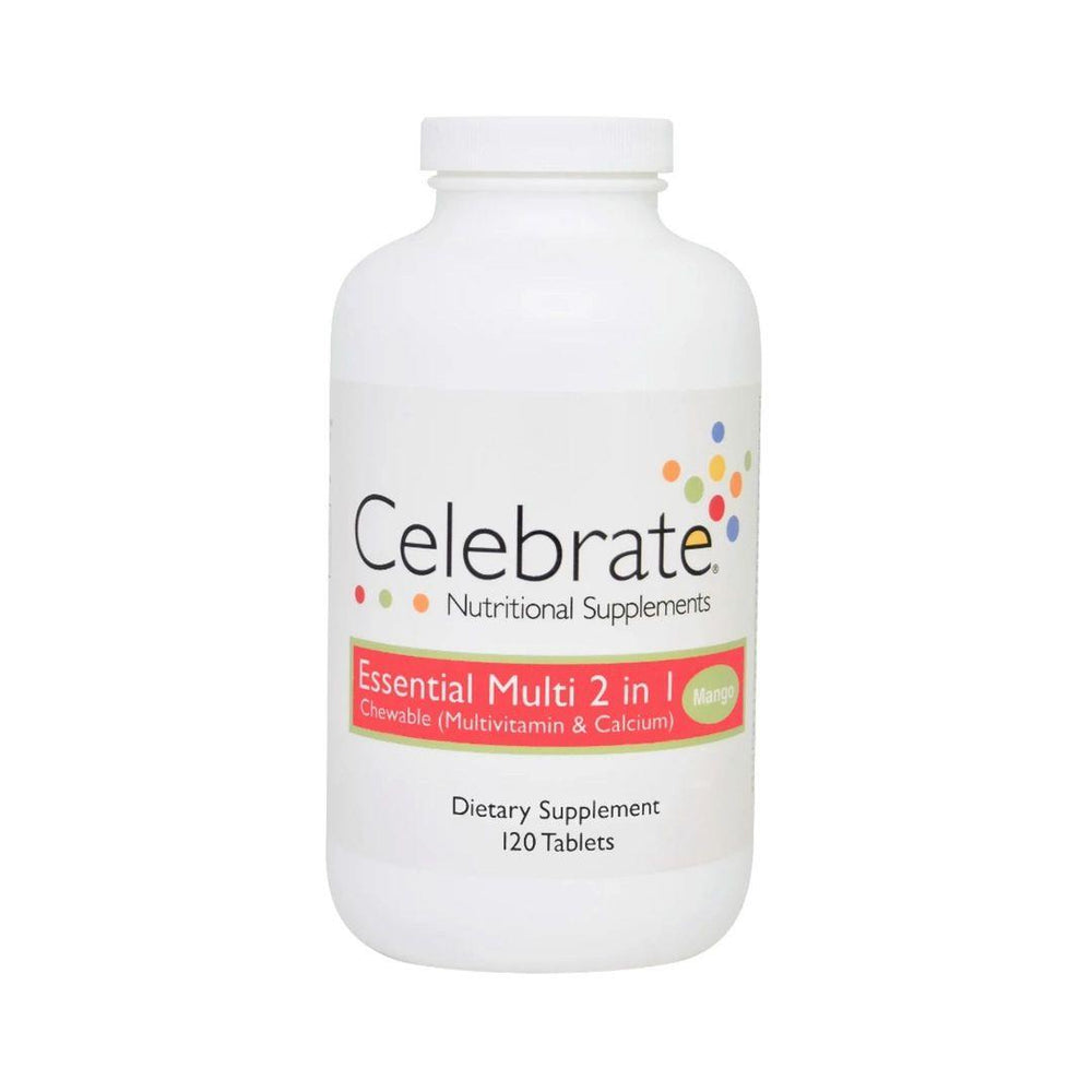 Celebrate Essential 2 in 1 Multivitamin Mango 120 Chews
