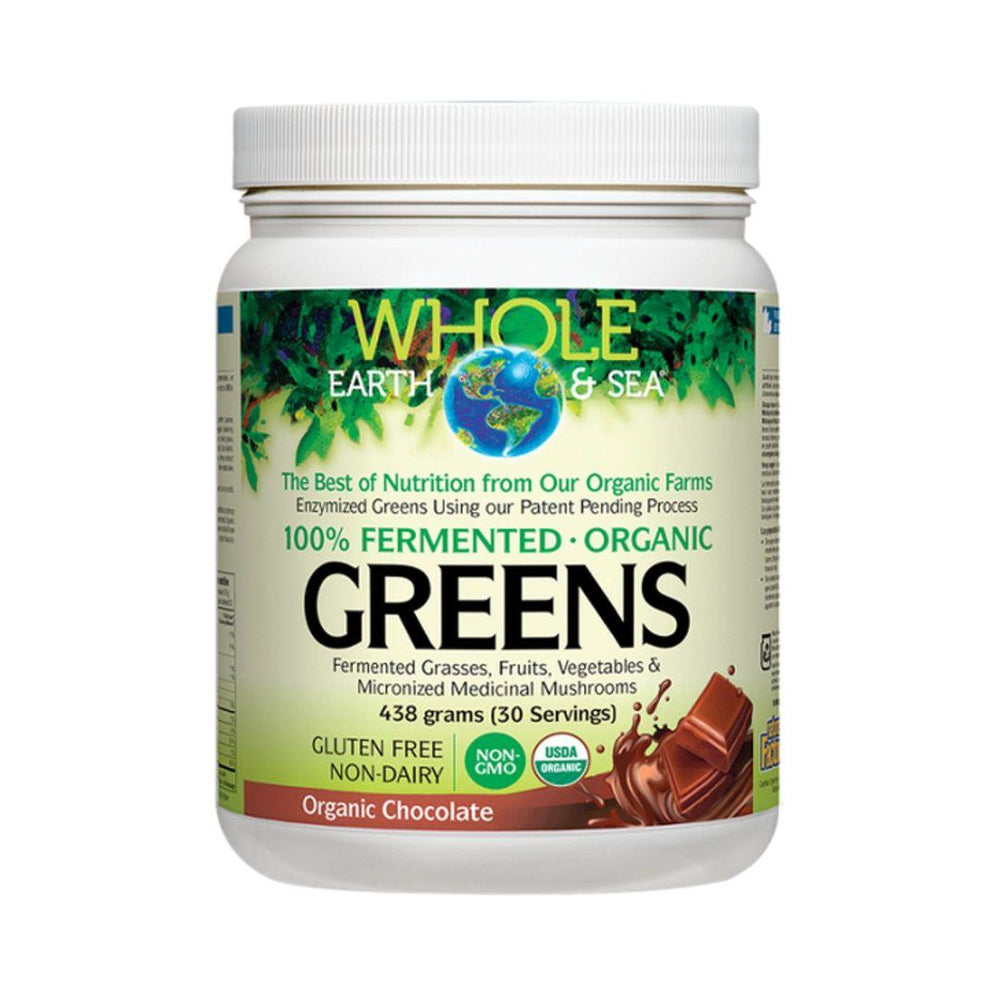 Natural Factors Whole Earth and Sea Fermented Greens Powder (Assorted Flavours)