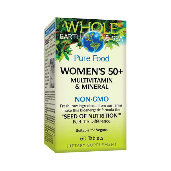 Natural Factors Whole Earth & Sea Women's 50+ Multivitamin (Assorted Sizes)