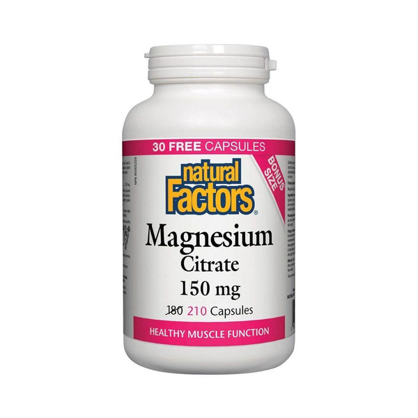 Natural Factors Magnesium Citrate 150mg Capsules