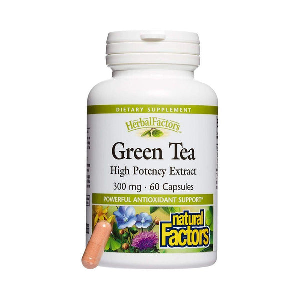Natural Factors Green Tea 300mg 60 Capsules | Durham Natural