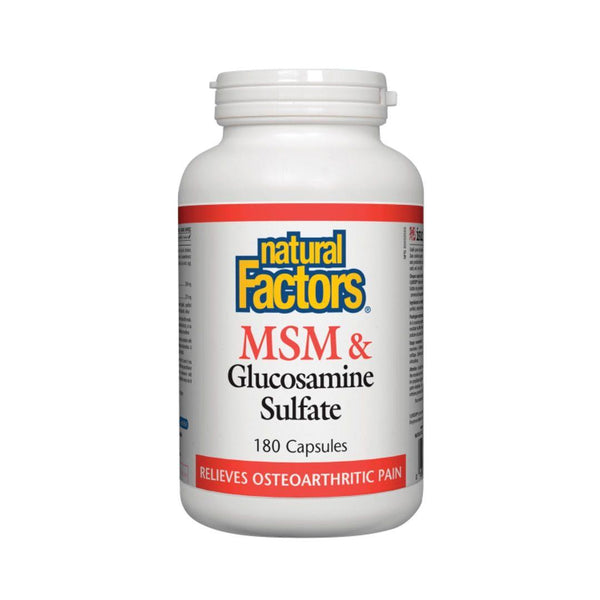 Natural Factors MSM & Glucosamine 180 Capsules