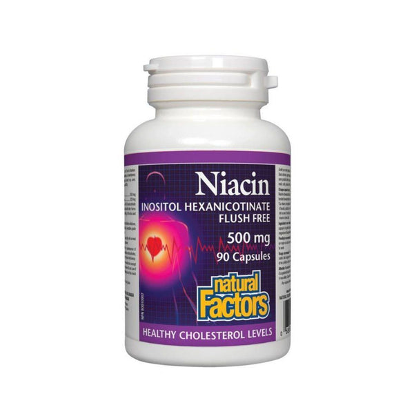 Natural Factors NO FLUSH Niacin 90 Capsules
