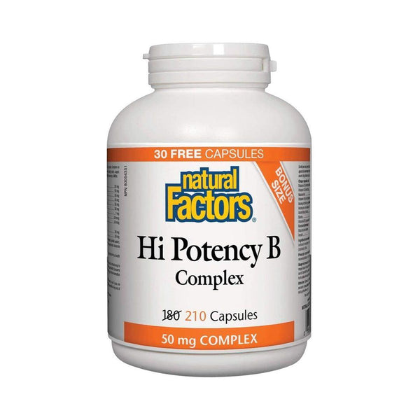 Natural Factors Hi Potency B Complex 210 Capsules Bonus Size!