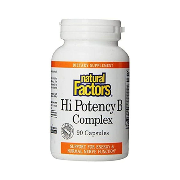 Natural Factors Hi Potency B Complex 90 Capsules