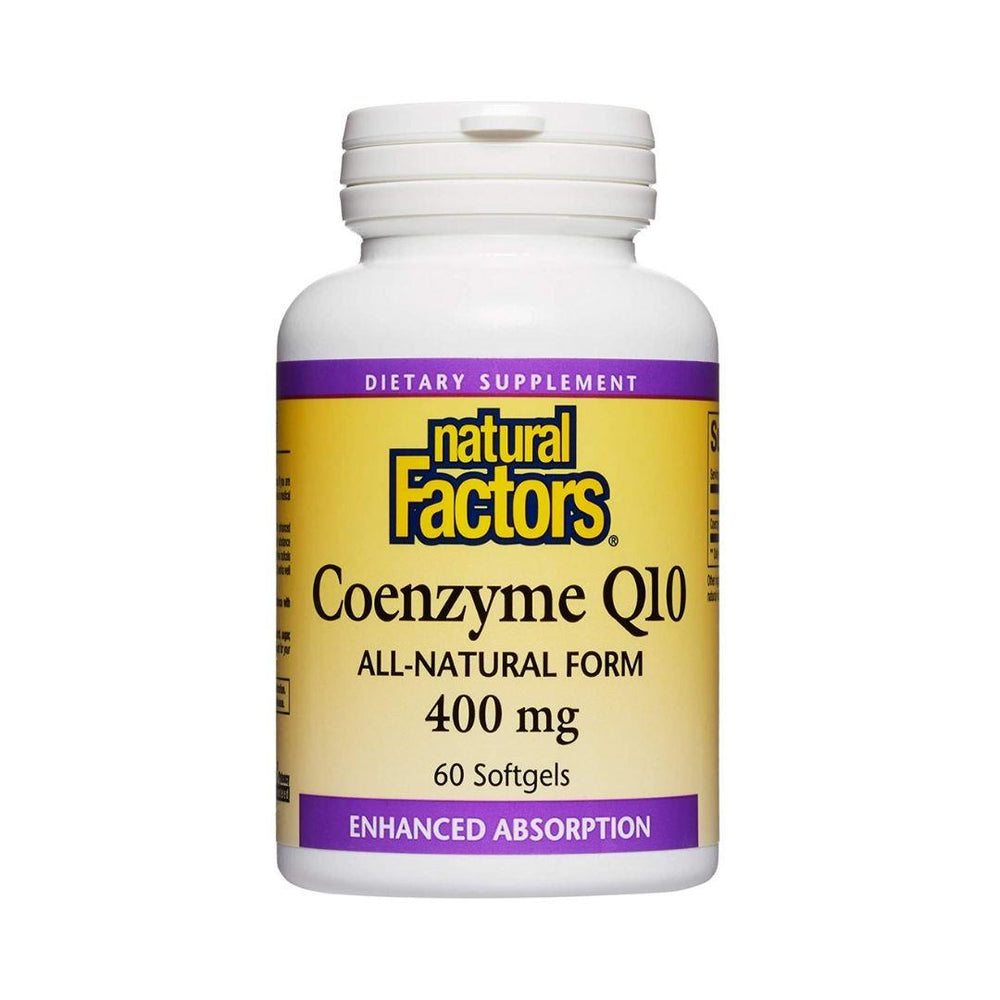 Natural Factors Coenzyme Q10 400mg 60 Gelcaps