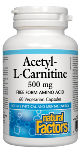 Natural Factors Acetyl-L-Carnitine 500mg 60 Caps | Durham Natural