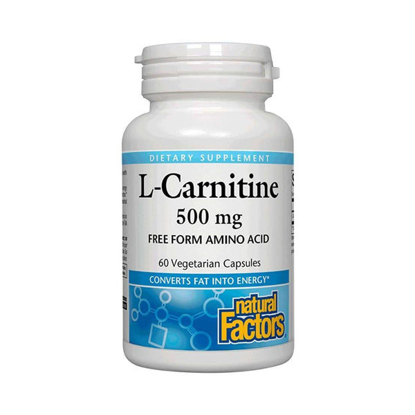 Natural Factors L-Carnitine 500mg 60 Capsules
