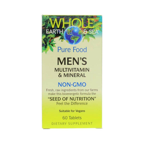 Natural Factor Whole Earth & Sea Mens Multivitamin 60 Tablets