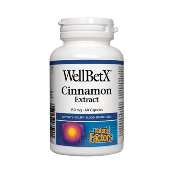 Natural Factors WellBetX Cinnamon Extract 60 Capsules
